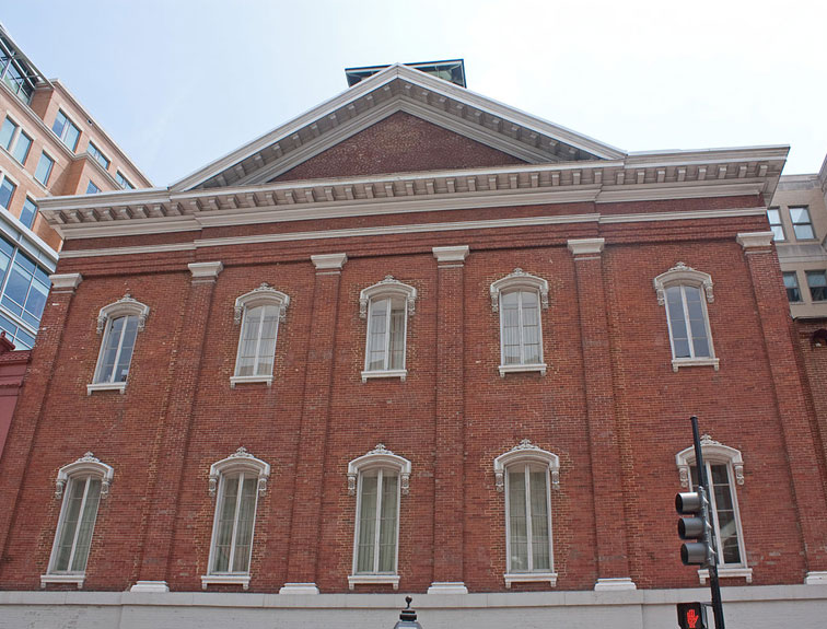 Pictured is the exterior of the historic Ford's Theater.