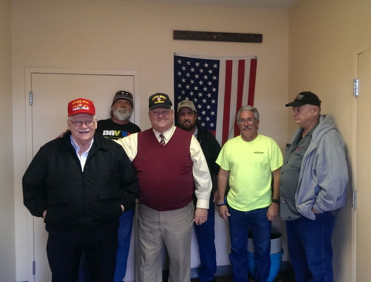 Pictured are the Napier staff members being honored on veterans day.