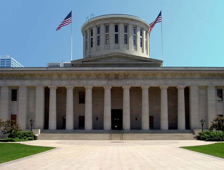 Pictured is the Ohio statehouse that funds the WIOA Dislocated Worker Program.