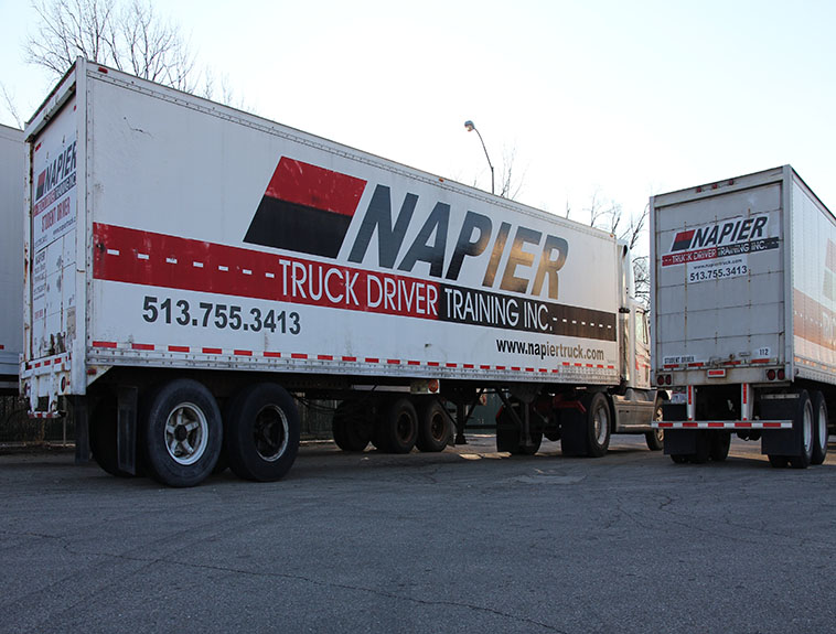 Pictures are Two Napier Trucks